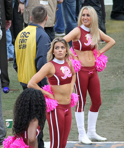 Redskinette Cheerleaders Taylor and Chloe.