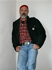 The Vacant Stare (Cowboy Tommy) Tags: hairy hot sexy sunglasses sex beard furry crotch jeans shade western denim redneck stache mustache bandana levis package buckle rugged bulge bluecollar hanky beared tightjeans palid silverdaddy facefur