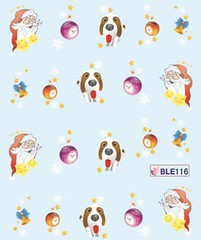BLE116 (Jasmeet.k) Tags: santa christmas xmas tree art water nail slide musical decal transfer nailart bombastic