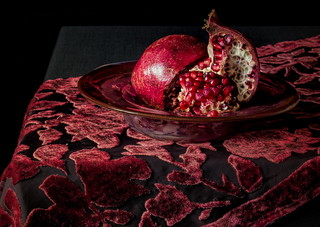 Pomegranate on Cut Velvet