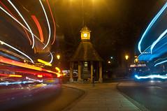 The Plain (Reckless Times) Tags: longexposure light colour bus cars clock buses car night dark still movement nikon long exposure colours roundabout trails oxford lighttrails plain theplain nikond5000