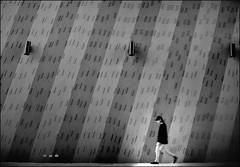 F_DSC6359-BW-2-Nikon D300S-Nikkor 28-300mm-May Lee  (May-margy) Tags:  maymargy bw      streetviewphotographytaiwan  linesformandlightandshadows  lens mylensandmyimagination  naturalcoincidencethrumylens humaningeometry    taiwan repofchina fdsc6359bw2 portrait wall lamps blur bokeh taipeicity nikond300s nikkor28300mm maylee    motion