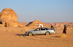 Saudis on car in Mada'in Saleh (kineky1) Tags: car locals desert saudi arabia saudiarabia saleh madain