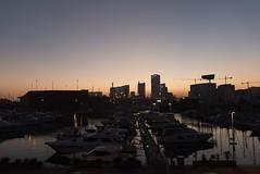 Port Forum at blue hour - Soleil couchant sur Port Forum (Laurent Saleh) Tags: barcelona spain cityscape paysage espagne barcelone espagna catalunia urbain catalogne lianeproject