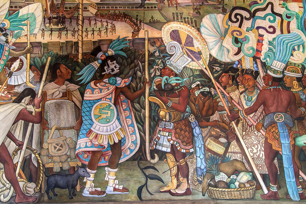 The world 39 s most recently posted photos of aztec and mural for Aztec mural painting