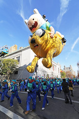 Finn and Jake join the parade (@harryshuldman) Tags: thanksgiving park new york city nyc two west canon day jake time mark central parade adventure ii 7d macys finn