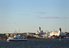 There and back again (samikahkonen) Tags: city sea ferry finland helsinki cityscape capital sealife fortress suomenlinna