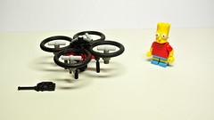 Quadcopter (hajdekr) Tags: airplane toy lego quad copter moc legotechnic myowncreation legosystem quadcopter thesimpsonstvprogram bartsimpsonfilmcharacter