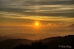 Lever de soleil 28-12-2015. Sunrise. (sergecos) Tags: sunset sky cloud sun sol sunrise landscape soleil ciel nuage hdr leverdesoleil pyrénéesorientales hdrenfrancais d7000