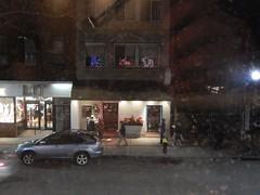 North End Boston.. view through dirty 2nd floor window (hansntareen) Tags: boston restaurant northend dirtywindow 2ndfloor