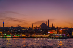 DSC03846 (Orhan Kılıç) Tags: city blue sunset sea sky water beautiful skyline architecture turkey seaside waterfront outdoor istanbul mosque eminönü sonysel35mmf18 sonya6000
