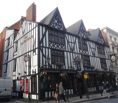 [37589] Manchester : Shakespeare (Budby) Tags: manchester blackwhite pub 20thcentury timbered publichouse