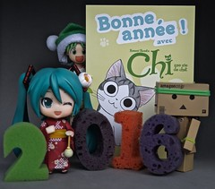 Akemashite Omedet!  (Damien Saint-) Tags: toy amazon vinyl yotsuba danbo revoltech goodsmile hatsunemiku danboard figmanendoroid