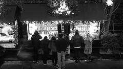 festive market 08 (byronv2) Tags: christmas street winter blackandwhite bw monochrome night festive blackwhite edinburgh december nacht candid princesstreetgardens princesstreet fair christmasmarket newtown nuit peoplewatching edinburghbynight festivemarket