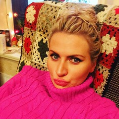 Anna in Pink (pooppoop883) Tags: christmas pink winter cute sexy sweater slut knit cable mohair blonde pout jumper turtleneck selfie cableknit