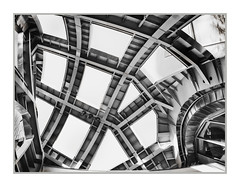 Frank Gehry Building, Lou Ruvo Center for Brain Health, Las Vegas, NV, #29 (Vincent Galassi) Tags: lasvegas nevada usa frankgehrybuilding louruvocenterforbrainhealth nv 29 architecture city cityscapes fine art black white