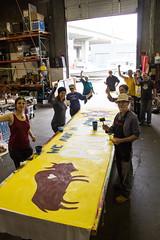 IMG_5602-2 (rawEarth) Tags: nodapl nodirectaccesspipeline signs standingrock artbuild silkscreen waterislife weareheretoprotect banner nativeamerican standingrocksioux solidarity oaklandcalifornia