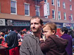 Hoyu Festival father and son (Scott SM) Tags: two year old toddler fujian hoyu folk festival philadelphia chinatown china chinese father dad son carry hug