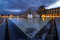 Pyramide du Louvre (Gilles Bourdreux Photographie) Tags: europe france paris louvre pyramide sunrise reflets travel voyages cityscape