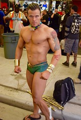DSC_0363 (Randsom) Tags: nycc 2016 newyorkcomiccon nycomiccon javitscenter october nyc newyorkcity cosplay costume fun comicbooks comicconvention marvelcomics avengers sandals barechest hunk hot guy man male physique olympian athlete brunette tattoo swim atlantis tan handsome sexy