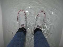 Wetlook Jeans, Adidas and Converse (adifan) Tags: converse adidas jeans socks wet wetlook