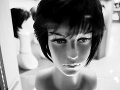 girl with faraway eyes (dr.milker) Tags: bnw bw model mannequin taiwan taipei urban street city metropolis wig blackandwhite woman girl noiretblanc blancoynegro            ximending