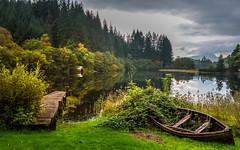 Loch Ard (don't count the pixels) Tags: scotland trossachsnationalpark trossachs loch lake boat autumn fall landscape