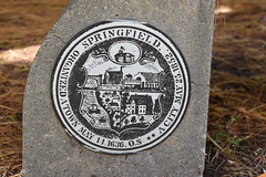Official seal of Springfield, Massachusetts at The Dr. Seuss National Memorial Sculpture Garden at the Quadrangle in Springfield, Massachusetts USA (RYANISLAND) Tags: massachusetts ma mas mass springfield springfieldma springfieldmassachusetts newengland drseuss howthegrinchstolechristmas thegrinch grinch catinthehat springfieldmass commonwealthofmassachusetts commonwealthmassachusetts commonwealth massachusettsan baystater massachusite massachusettsbaycolony visitnewengland us usa springfieldcity hampdencounty thecommonwealthofmassachusettsstate newenglandregion theunitedstatesofamerica northamerica autumn fall fallfoliage foliage leaves outdoors