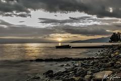 sunset (Mike Kapodistrias) Tags: greece volos outdoor water sky sea landscape shore cloud