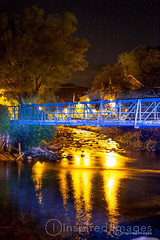 Beddgelert by night (Photography by inspired images) Tags: wales north northwales light lightpainting lowlight nighttime night river houses house bridge stars halloween monsters dragon gate blackandwhite trees village canon5dmkiii 50mm niftyfifty beddgelert autumn gelert streetlight photography