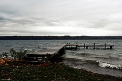 The oldest and strongest emotion of mankind is fear. (Apollyon Sun) Tags: upstate newyork ithaca cayuga lake lago water shore cold lovecraft