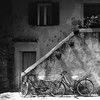 (simon zalto) Tags: bicycle grado italy blakandwhite summer stairs