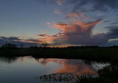 Evening calm (jehazet) Tags: zonsondergang sunset wolkenlucht clouds reflectie reflections