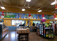 Front wall overhead mural