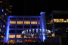 Eindhoven Glow 2016 (ToJoLa) Tags: 2016 eindhoven eindhovenglow2016 lichtstad lichtfestival herst licht kleuren michaelsuk wittedame bibliotheek blue nachtopname nightshot