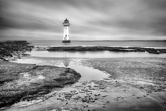 New Brighton long exposure (lyndaha) Tags: longexposure newbrighton mono lighthouse perchrock wirral