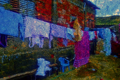 Brazil (andreburian@rocketmail.com) Tags: imagination modernart modernist stylized effect brightcolors confused visualarts impressionist fineart contemporaryart manipulatedphotography dreamlike fantasie slum brazil