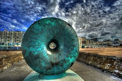 The Doughnut on breakwater, Brighton, England (michaelasss) Tags: brighton beach breakwater groyne doughnut sculpture publicart pier seafront water ocean swimming boats tourist regencybuidings brightonandhove sunbathe
