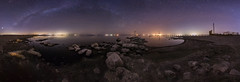 A Clear and Calm Night at the Salton Sea (slworking2) Tags: saltoncity california unitedstates us salton sea pier dock navalstation urbex abandoned decay milkyway stars nightsky sky nighttime desert lake