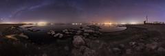 A Clear and Calm Night at the Salton Sea (slworking2) Tags: saltoncity california unitedstates us salton sea pier dock navalstation urbex abandoned decay milkyway stars nightsky sky nighttime desert lake