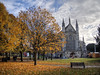 Winchester Cathedral in Autumn (neilalderney123) Tags: ©2016neilhoward winchester cathedral autumn fall church hampshire landscape leaves tree