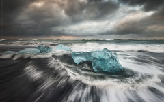Jkulsrln Storm Break, Iceland (Jim Patterson Photography) Tags: ocean summer seascape storm beach clouds sunrise landscape blacksand iceland europe moody dramatic stormy icebergs sweeping glacial northatlantic wavemotion jkulsrln jimpattersonphotography jimpattersonphotographycom seatosummitworkshops seatosummitworkshopscom
