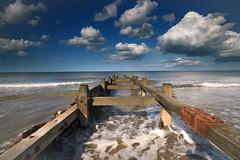 Eccles Beach (tregw) Tags: sea beach clouds canon lee 1635 norfolkbeaches canon5dll