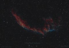 veil-nebula-bi-colour (__Aenima__) Tags: longexposure canon 350d space astrophotography astronomy imaging supernova dslr cygnus ed80 halpha veilnebula ngc6995 deepskyobject