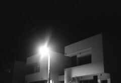 "night walk [analog] (__J) Tags: blackandwhite bw house film night analog canon dark nacht kodak streetlamp tmax cyprus haus scan professional scanned sw a1 analogue canona1 dunkel kiti zypern canonfd schwarzweis 400"" strasenlampe ""kodak tmax"" ""iso ""tmax"" ""tmax"