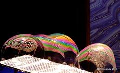 Pompas de colores (Landahlauts) Tags: water teatro agua smoke performance entertainment sphere granada iridescent catalunya humo cataluña soapy compañia burbujas esfera jabon espectaculo pustefix clinc pepbou soapbuble pompasdejabon glicerina irisdiscente bubbleologist teatroinfantil burbujasdejabon tensionsuperficial aguadestilada companyiapepbou eduardotelletxea efectomarangoni hidrofilas hidrofobas isaiasantolin moleculastensioactivas tensioactivo