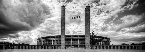 Outside Olympiastadion, Berlin