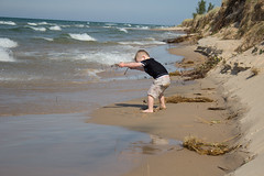 Lake Michigan and The Boy (marylea) Tags: family summer vacation lake beach water happy sand play michigan shoreline happiness lakemichigan greatlakes grandson shore greatlake familyvacation freshwater sandybeach ludington 2015 aug27