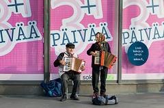 Gheorgh & Maria (Poupetta) Tags: musicians helsinki maria romanian gheorgh