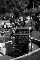 French call it Noir and Blanc (FrƷd) Tags: newzealand blackandwhite bw music flower canon barrel organ nz wellington tamron barrelorgan 18270 700d canon700d canoneos700d frʒd